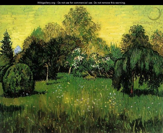 Public Park with Weeping Willow - Vincent Van Gogh