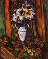 Still life, vase with flowers - Paul Cezanne