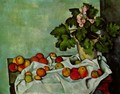 Still life, geranium stick with fruits - Paul Cezanne