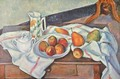 Still life with peaches and pears - Paul Cezanne