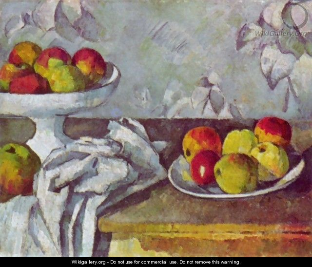 Still life with apples and fruit bowl - Paul Cezanne