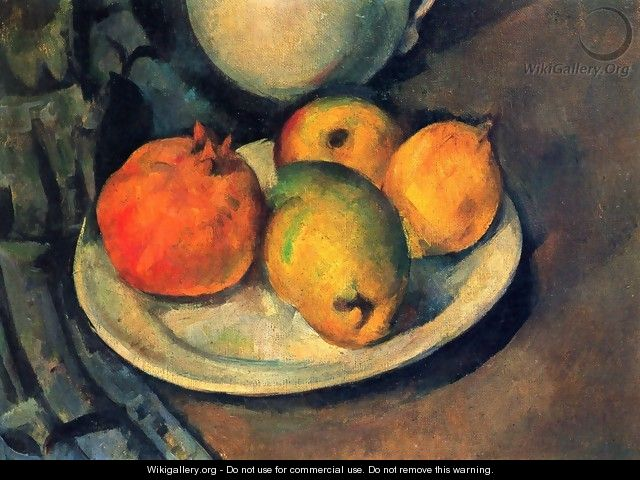 Still life with a magran and pears - Paul Cezanne