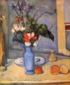 Still life with a blue vase - Paul Cezanne