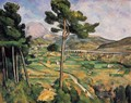 Mount Sainte-Victoire as seen from Bellevue - Paul Cezanne