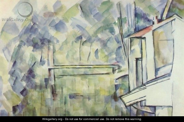 Mill at the river - Paul Cezanne
