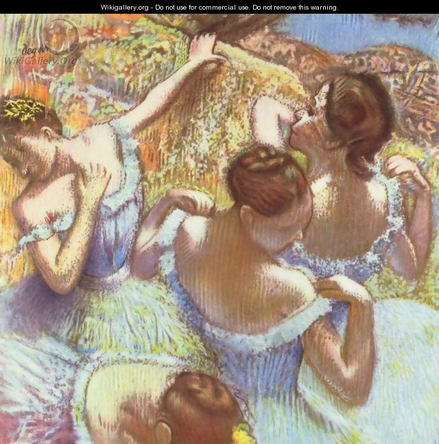 The Blue Dancers - Edgar Degas
