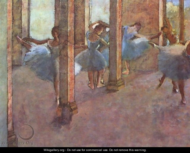 Dancers in the entrance hall - Edgar Degas