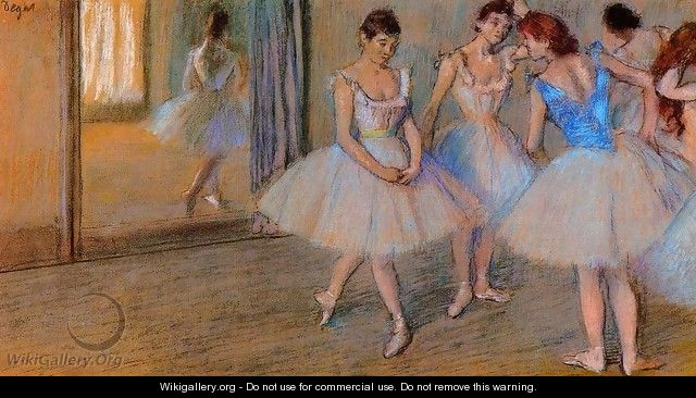 Dancers in a Studio 2 - Edgar Degas
