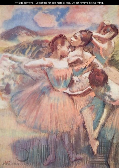 Dancers in a landscape - Edgar Degas
