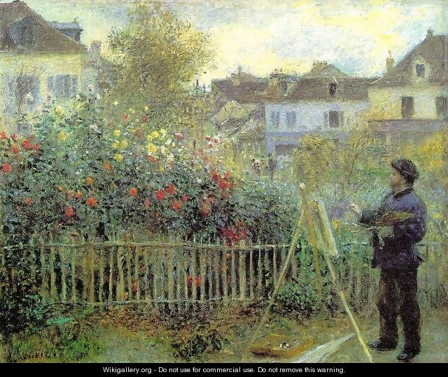 Renoir Painting In His Garden (1873) - Claude Oscar Monet