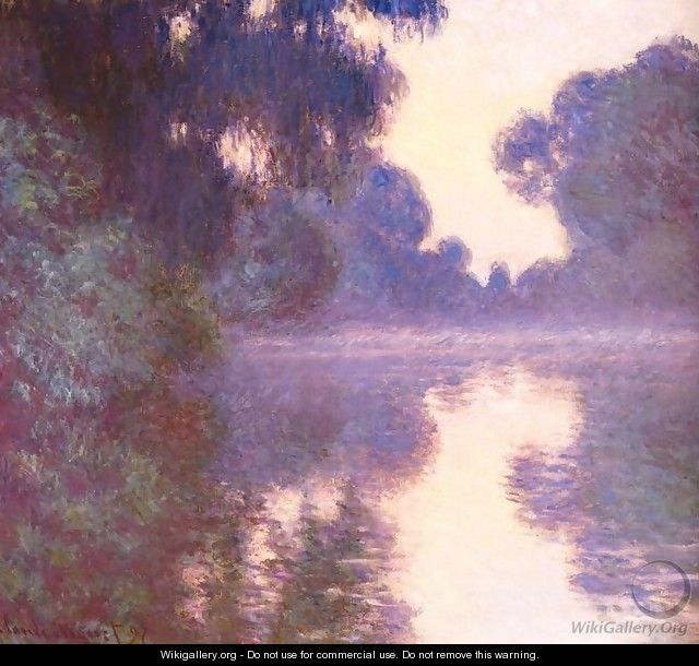Misty morning on the Seine blue - Claude Oscar Monet