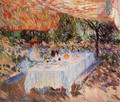 Luncheon under the Tent - Claude Oscar Monet