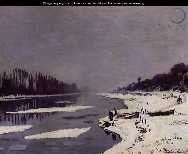 Ice Floes on the Seine at Bougival - Claude Oscar Monet