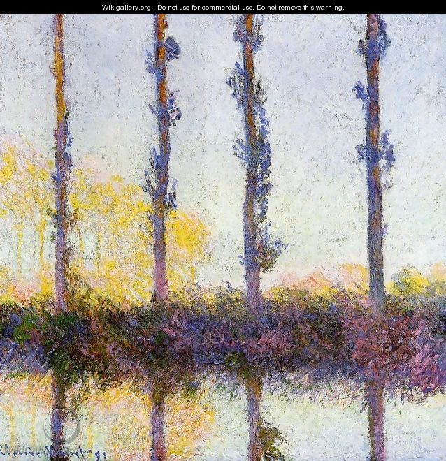 Four Trees - Claude Oscar Monet