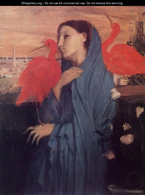 Young Woman and Ibis - Edgar Degas