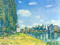 Bridge von Moret at Summer - Alfred Sisley