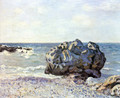 Bay of long country with rock - Alfred Sisley