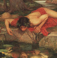 Narcissus cropped - John William Waterhouse