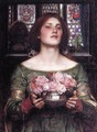 Woman with roses - John William Waterhouse