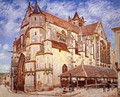 The Church at Moret, Afternoon - Alfred Sisley