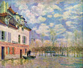 Punt in the inundation - Alfred Sisley