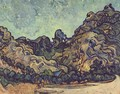Mountains at Saint-Remy with Dark Cottage - Vincent Van Gogh