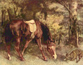 Horse in the forest - Gustave Courbet
