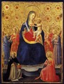 Virgin and Child with Sts Dominic and Catherine of Alexandria - Giotto Di Bondone