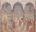 The sermon in front of the St. Francis Pope Honorius III - Giotto Di Bondone