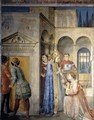 St Sixtus Entrusts the Church Treasures to Lawrence - Giotto Di Bondone