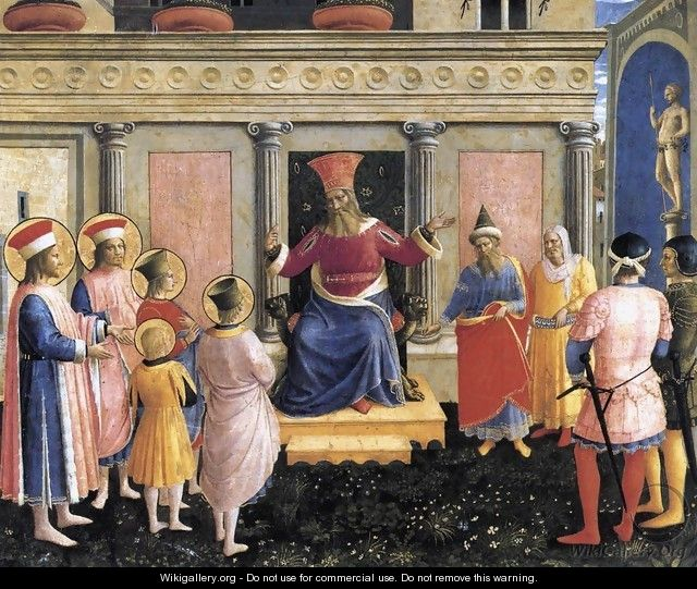 Saint Cosmas and Saint Damian before Lisius - Giotto Di Bondone