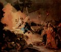 Christ on the Mount of Olives and the angel with the calyx (the suffering) - Giovanni Battista Tiepolo