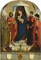 Medici Madonna scene, Madonna and Peter, John the Baptist, Cosmas and Damian - Rogier van der Weyden