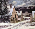 Village at winter - Gustave Courbet