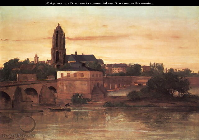View of Frankfurt - Gustave Courbet
