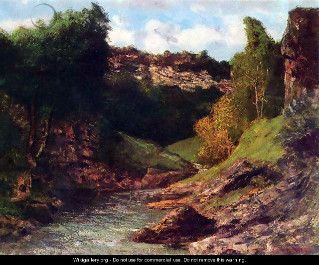 Rocky Landscape - Gustave Courbet