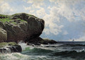 Rocky Head with Sailboats in Distance - Alfred Thompson Bricher