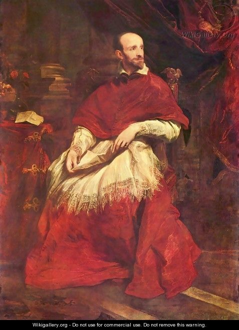 Portrait of the cardinal Guido Bentivoglio - Sir Anthony Van Dyck