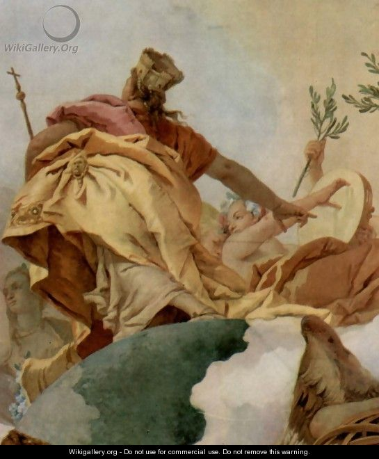 Apotheosis of the Family Pisani, detail 2 - Giovanni Battista Tiepolo