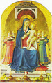Triptych of Perugia. Virgin with child, angels and saints 2 - Angelico Fra