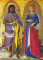 Triptych of Perugia. The Saints John the Baptist and Catherine of Alexandria - Angelico Fra