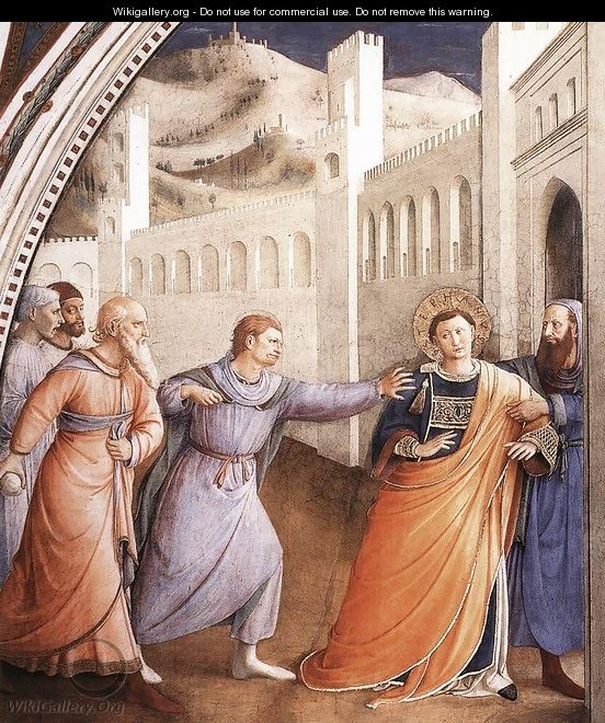 The Arrest of St Stephen - Angelico Fra