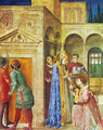 St. Lawrence receives from Sixtus II treasures of the church - Angelico Fra