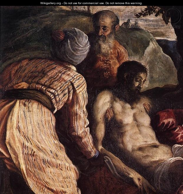 Christ Carried to the Tomb (detail) - Jacopo Tintoretto (Robusti)
