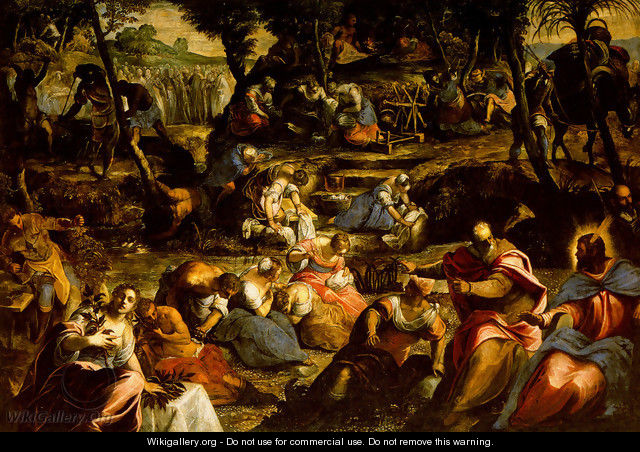 The Jews in the Desert - Jacopo Tintoretto (Robusti)