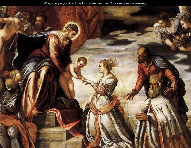 Mystic Marriage of St Catherine - Jacopo Tintoretto (Robusti)