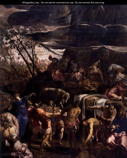 Moses Receiving the Tables of the Law (detail 2) - Jacopo Tintoretto (Robusti)