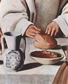 St Hugo of Grenoble in the Carthusian Refectory, detail - Francisco De Zurbaran