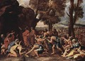 Moses proposes water from the rocks 2 - Nicolas Poussin