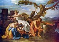 Jupiter as a child of the goat Amalthea nourished - Nicolas Poussin